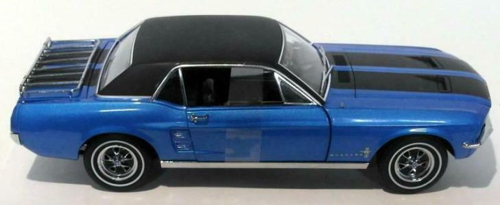 "1967 Mustang ""Ski Country Special"" Blue (minor blemish) - Click Image to Close"