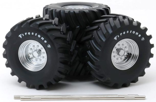 "(1) Set of 4 ""MONSTER TRUCK"" 48"" FIRESTONE Wheel/Tire Set - Click Image to Close"