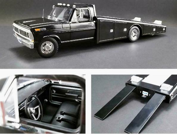 1970 Ford F350 RAMP TRUCK - Black (First Release)! - Click Image to Close
