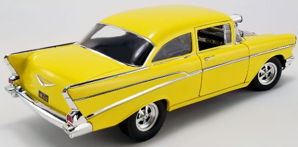 "1957 Chevrolet ""Hollywood Knights"" Yellow (Some New Parts)! - Click Image to Close"